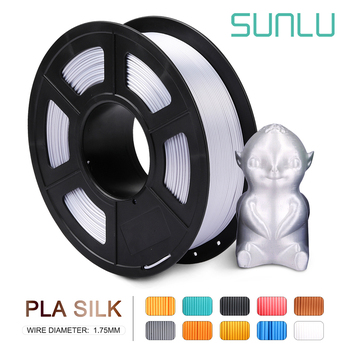 SUNLU PLA 1.75 1KG Silk Texture 3d Printing Filament No Tangle Winding Silk PLA Filament For 3d Printer Printing Smoothly image
