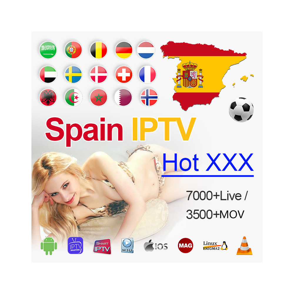 1 Year Spain IPTV M3u Subscription For Spanish Portugal Dutch Sweden Israel Enigma2 Code PC Smart TV Android Phone TV Box M3u