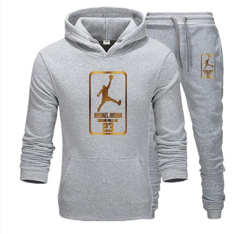 2020 New Men Hoodie Jordan 23 Jersey Men's Jogging Tracksuit Men's Sportswear Suits Men's Casual Clothes 3XL Pullover Number 23