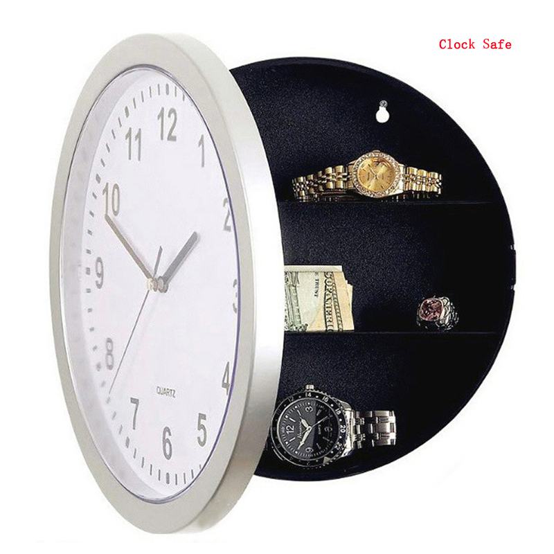 Wall Clock Safe Hidden Secret Safe Home Security Storage Box Hide Money Safe Box Anti Theft Stash Box For Valuables Cash Jewelry