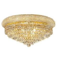 Lámpara de techo de cristal de lujo K9, iluminación Empire Gold, envío gratis