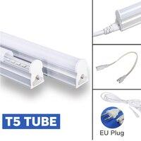 T5 T8 led チューブライト 220 v ケーブルスイッチ接続ケーブル統合管壁ランプ 220 v 30 センチメートル 50 センチメートル 180 センチメートル eu プラグホームライト
