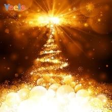 Yeele Christmas Backdrop Tree Golden Light Bokeh Newborn Baby Photography Background For Photo Studio Photocall Photophone