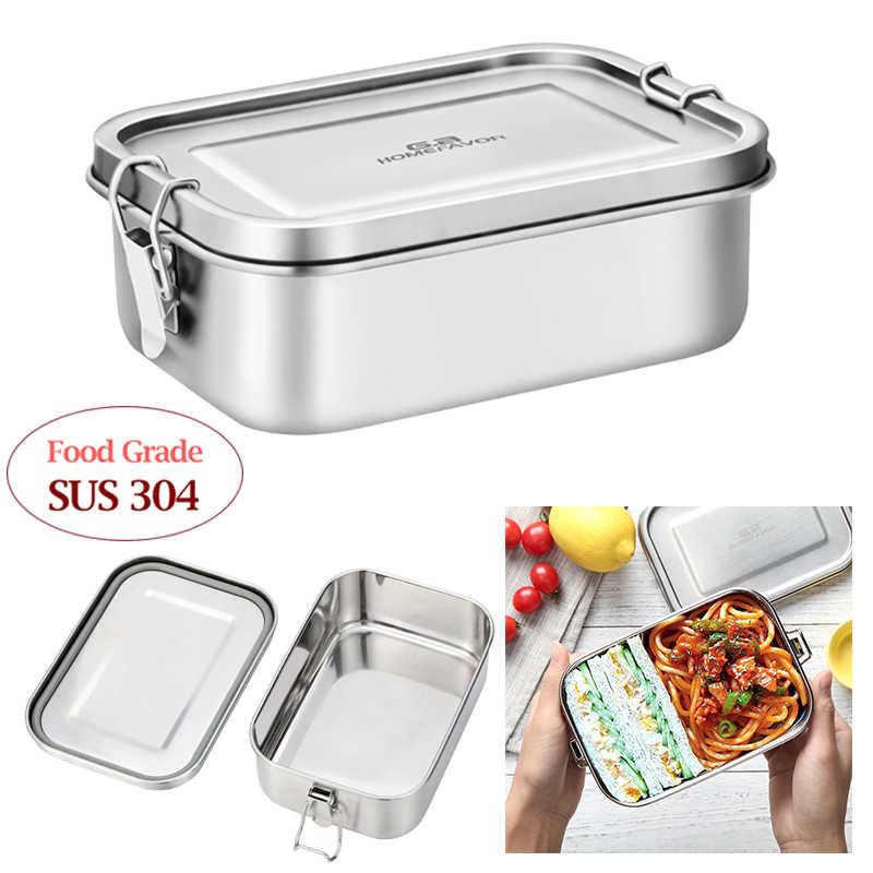 Makan Siang Wadah Stainless Steel Bento Makanan Wadah G. Homefavor Makanan Ringan Kotak Penyimpanan untuk Anak Wanita Pria