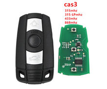 Melhor qualidade aftermarket cas3 3 botão remoto chave para bmw 1 3 5 6x5x6 z4 série com 868 mhz, com 7945 chip para bmw cas3