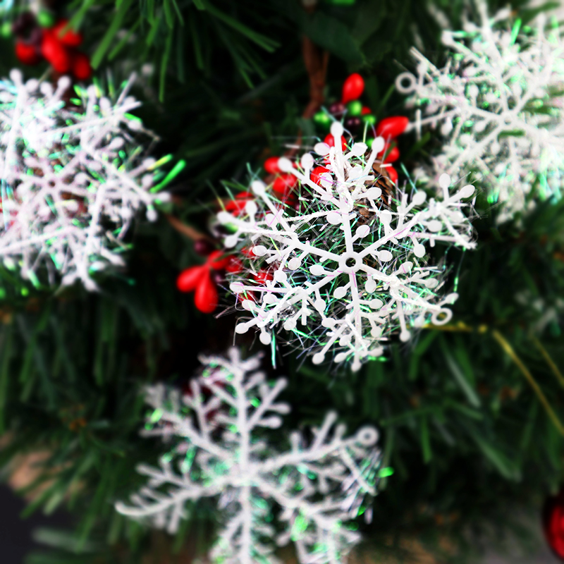 12Pcs Christmas Ornament Artificial Snowflake Xmas Tree Decor Snow Fake Snowflakes Winter Party Decorations For Home Noel