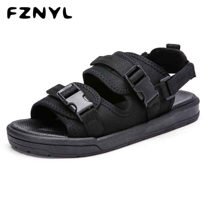 FZNYL Men Sandals Soft Comfortable Summer Outdoor Shoes 2019 Breathable Fashion Casual Black Rubber Slippers Women Large Size 45