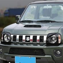 MOPAI колпаки лампы для Suzuki jimny ABS черный Автомобильный передний светильник крышка лампы для Suzuki jimny 2010-2015 Аксессуары Стайлинг
