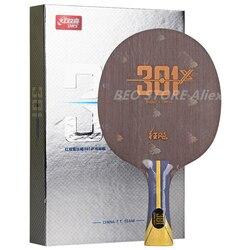 DHS Hurricane 301 (H301X) 301X, núcleo de la hoja de tenis de mesa + 0,5mm arilato de carbono, raqueta de Ping Pong, pala de murciélago