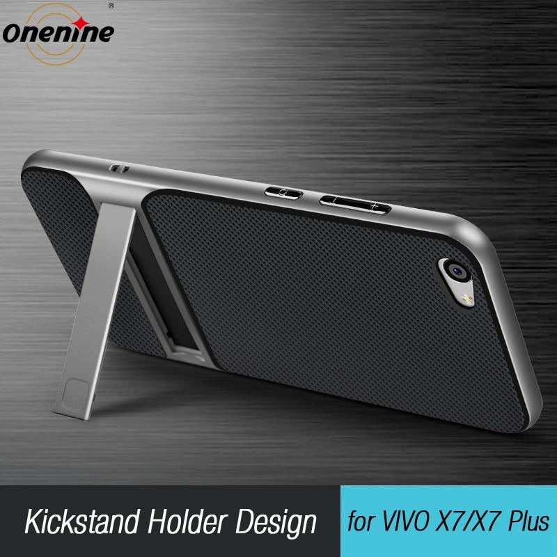 Zcela nové pouzdro na mobilní telefon pro 3D stojan pro VIVO X7 Case 5.2 Hybridní kryt TPU + PC Ochranný Silikon pro VIVO X7 Plus 5.7