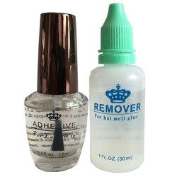 Kit removedor de cola 0.5 oz 15 ml laço peruca cola ligação adesivo transparente para peruca de renda completa peruca masculina