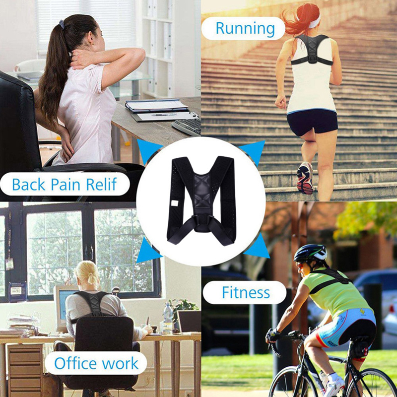 Brace Support Belt Adjustable Back Posture Corrector Clavicle Spine Back Shoulder Lumbar Posture Correction For Adult Unisex