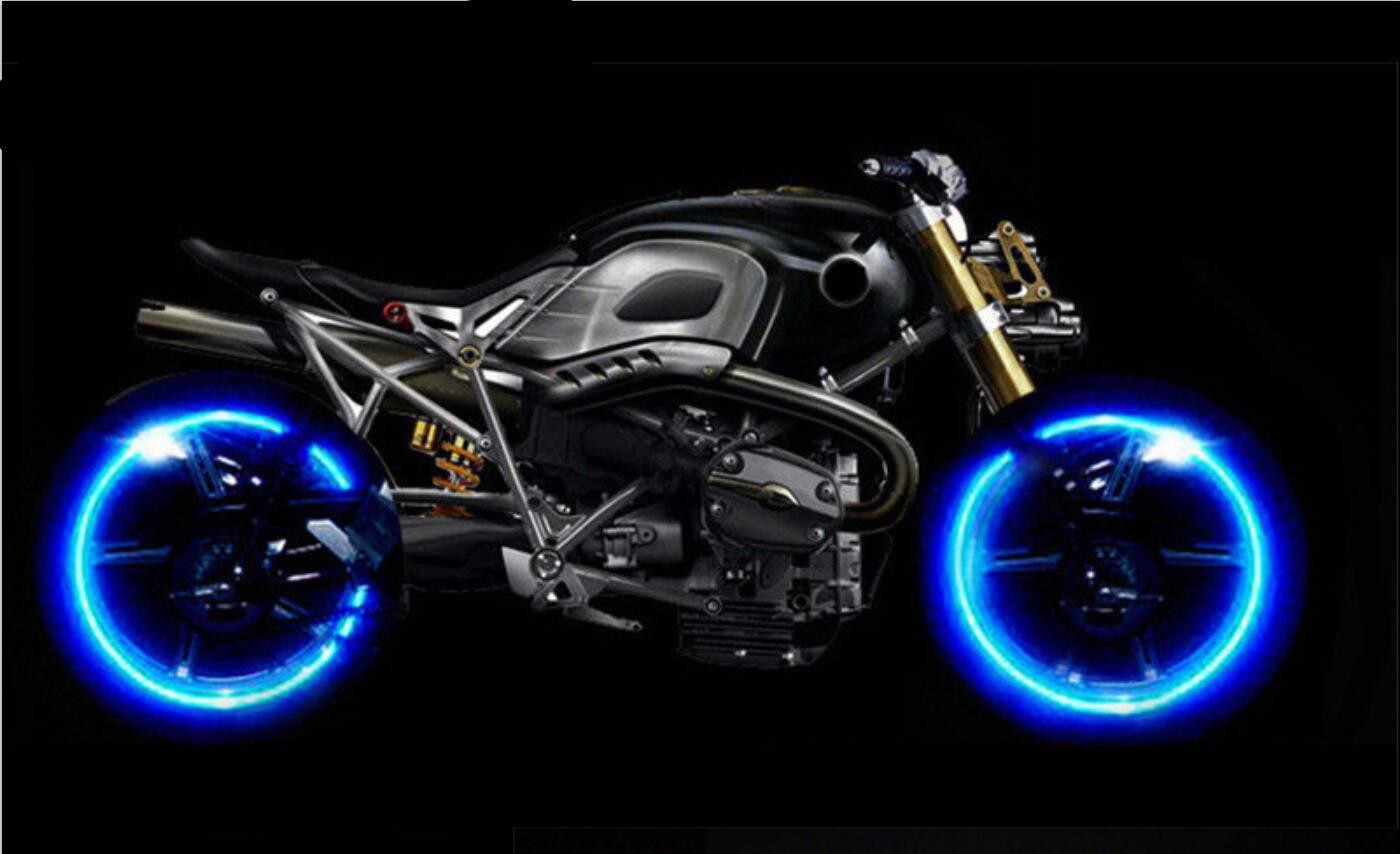 Nouveau 2019 bandes moto motorcross roue autocollant réfléchissant autocollant bande de jante pour BMW R1200ST S1000R Ducati 1098 S tricolore