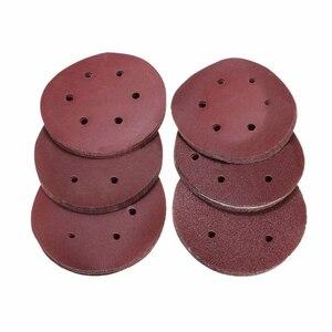Image 5 - 60PCS 6 inch/150mm מלטש דיסק Sandpapers 60 80 120 180 240 320 ליטוש כרית חצץ עבור ניקוי וליטוש שוחקים כלים