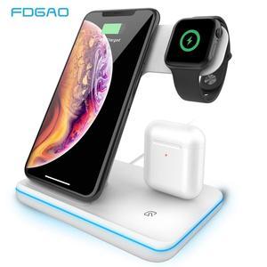Image 1 - 3 Trong 1 Tề Đế Sạc Không Dây Cho Iphone 8 X XS 11 XR Đồng Hồ Apple 5 4 3 2 IWatch AirPods Pro 15W Sạc Nhanh Cho Samsung