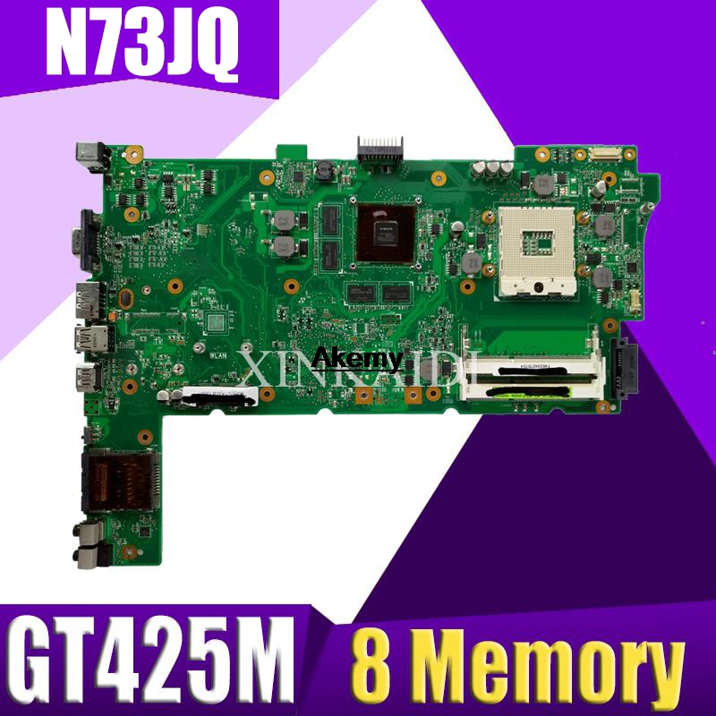 XinKaidi  For Asus N73JQ N73JF Motherboard 60-NZXMB1100-E18 Main Board 8 Memory Rev2.0 Mainboard 100% Tested Ok