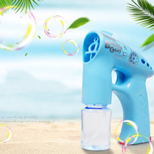 Beautiful Nordic Automatic Outdoor Electric Kids Toys For Children Soap Blowing Bubbles Gun Machine Water Guns Bubble Maker стоимость