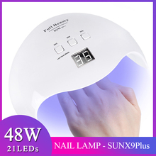 48W Professional Nail Dryer Lamp 21 LEDs UV Lamp Curing For
