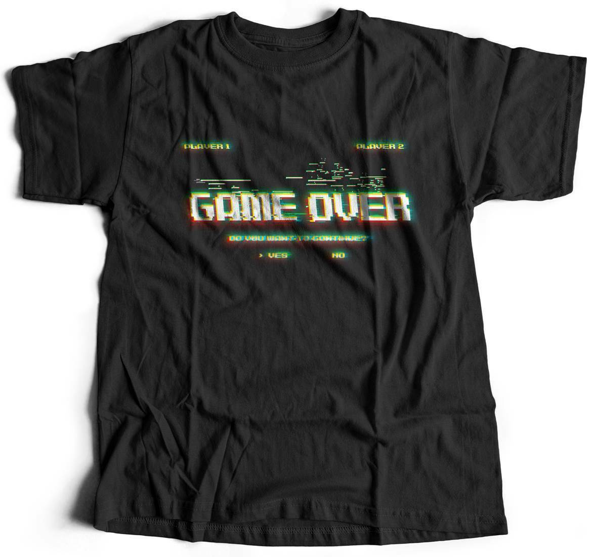 Game Over Continue Geek T-Shirt Nerd Video Gamer Retro Club 8 Bit Legend Ar B999 image