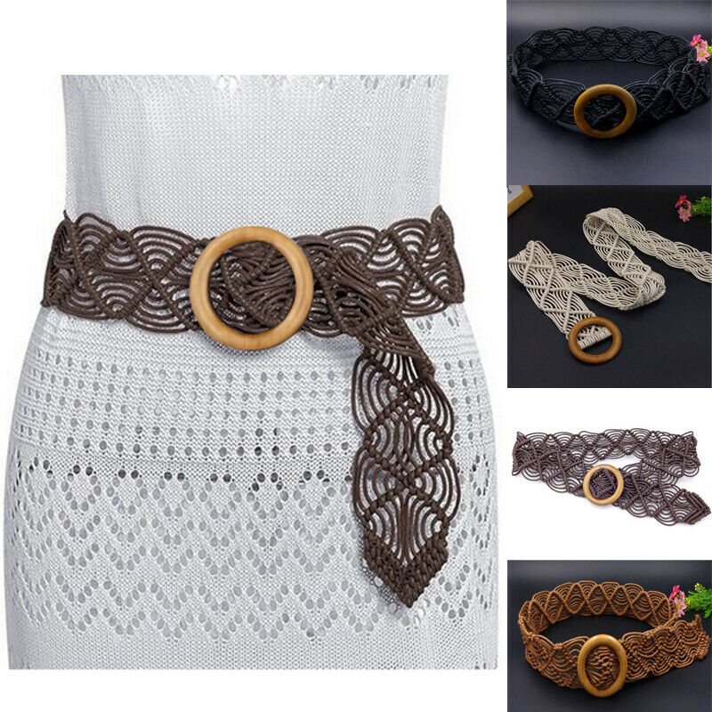 Best Sale Women Belt Fashion Soft Weave Wrap Around Tie Corset Cinch Waist Wide Belt Party Dress Decor Waistband Women Belt Size