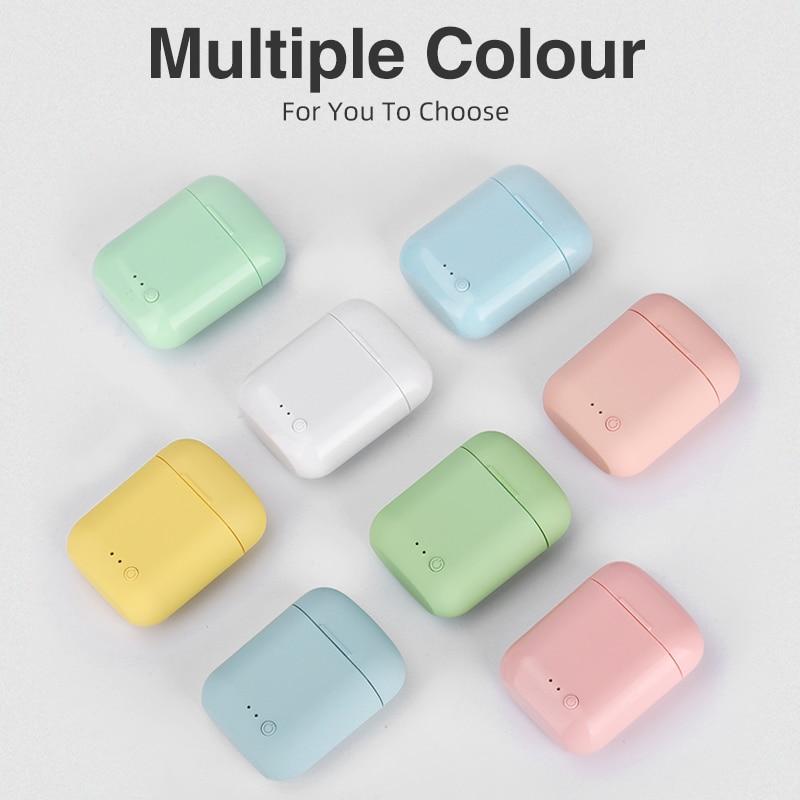 5,0 беспроводные наушники Bluetooth Mini-2 TWS, наушники TWS, матовые наушники-вкладыши Macaron с микрофоном и зарядным футляром, гарнитура, беспроводные н...