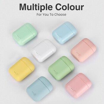 5.0 Bluetooth Mini-2 TWS bezprzewodowe słuchawki słuchawki TWS Matte Macaron słuchawki douszne z mikrofonem etui z funkcją ładowania zestaw słuchawkowy słuchawki bezprzewodowe