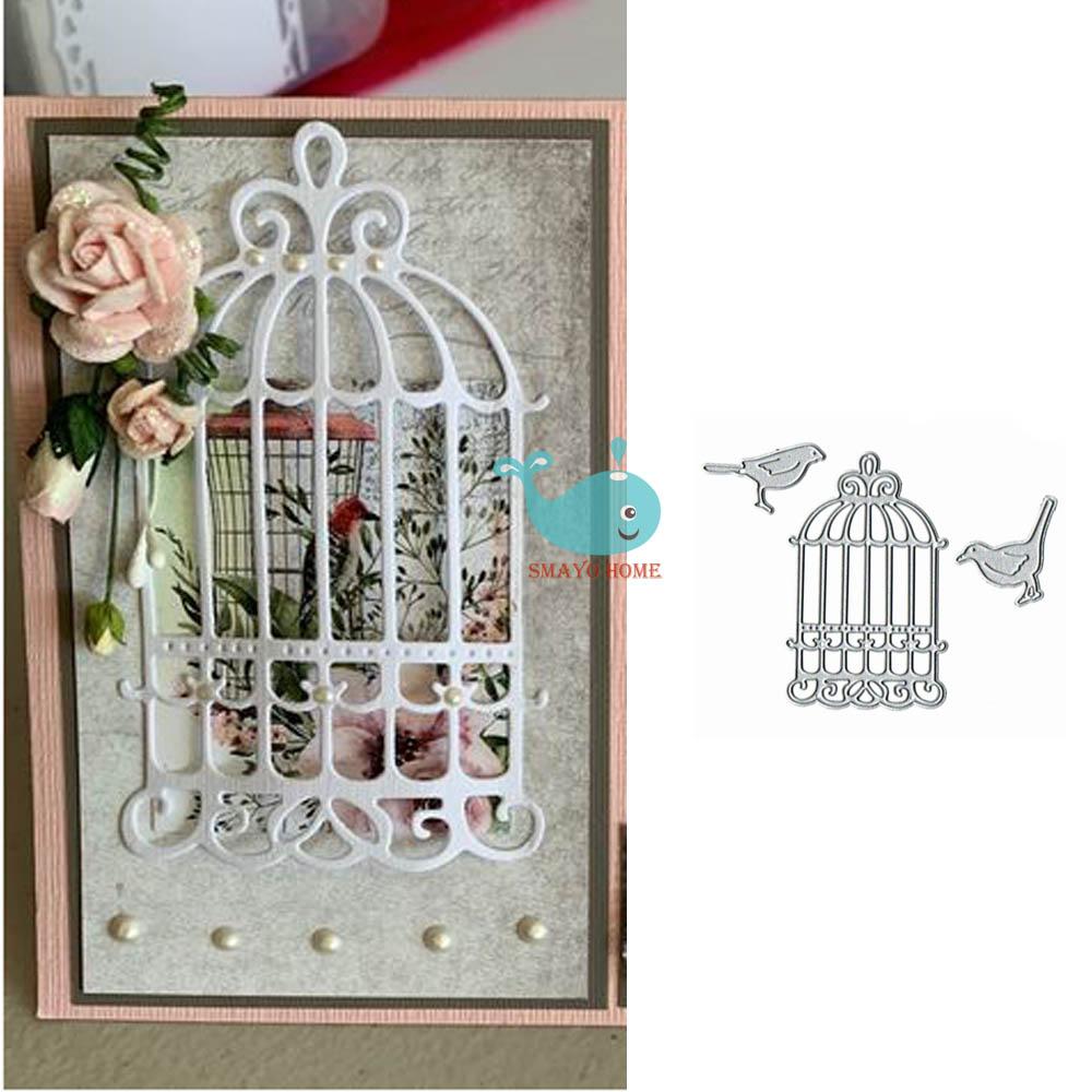 bird cage Metal Cutting Dies Stencil Scrapbook Paper Cards Craft Embossing JC