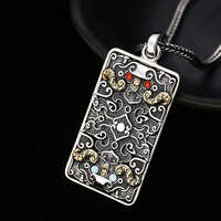 EDC 925 Silver Beads A Pendant Paracord Outdoor DIY Decorations 925 Silver Camping Gear EDC Tools