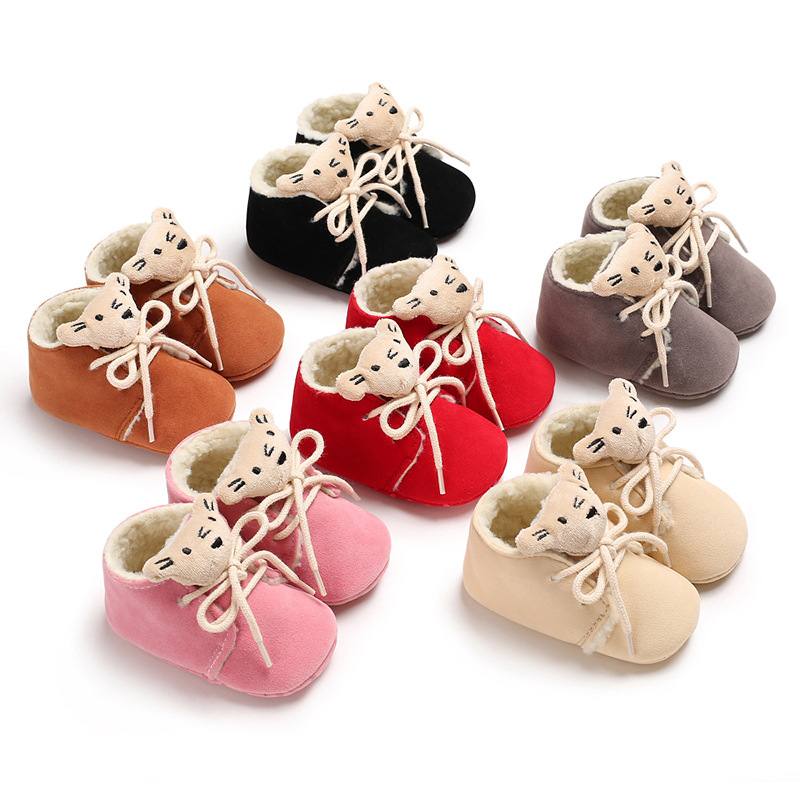 Newborn Baby Winter Boots Baby Boy Girl Warm Shoes Beginners Sports Shoes Cotton Non-slip Only Newborn Toddler Shoes