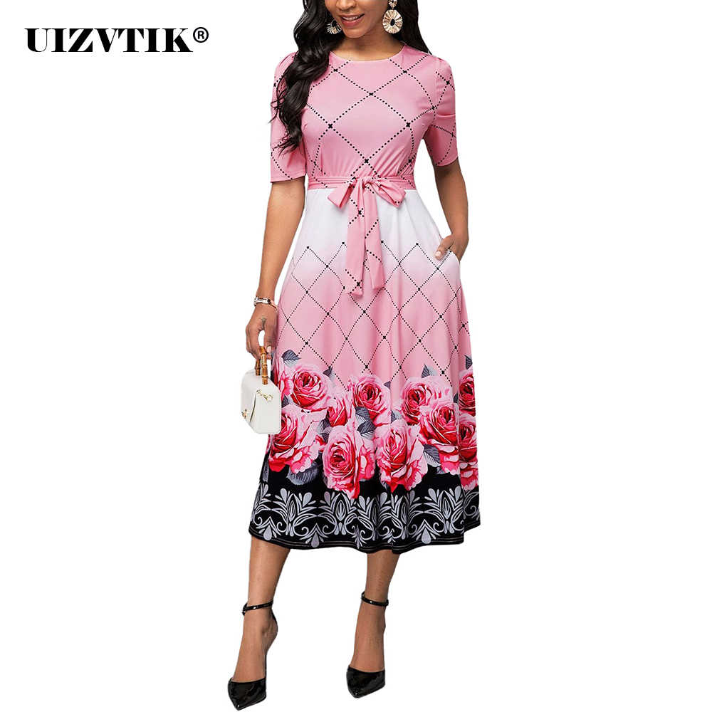 Zomer Herfst Vrouwen Jurk 2020 Elegante Sexy Bloemenprint Banket Lange Party Dress Casual Plus Size Slim Baljurk Maxi jurken
