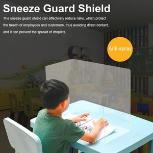 Acrylic Sneeze Guard Shield Mu