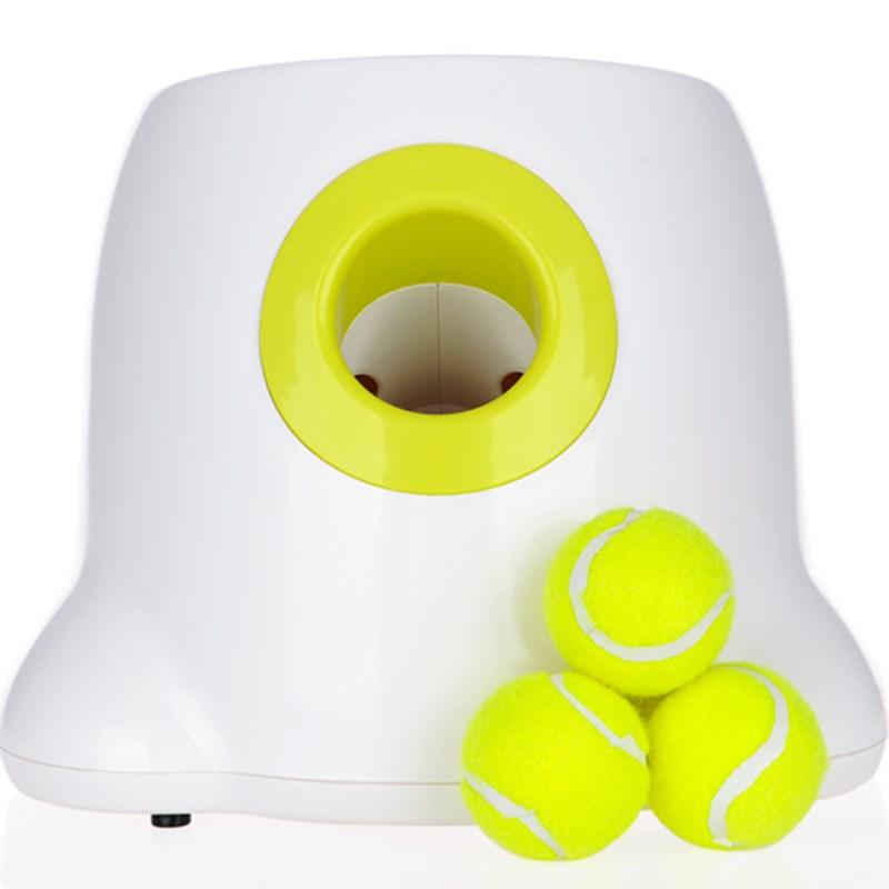 Cão de estimação brinquedos jogando Tênis Lançador Automático pet máquina de jogar Bola dispositivo 3/6/9m Seção de emissão com bolas de 3