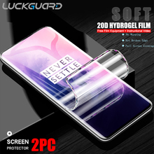 Original  Full Cover Hydrogel Film For OnePLus 5T 6T 7 7T 8 Pro no Glass Screen Protector For OnePLus 5 6 T Soft Protective Film
