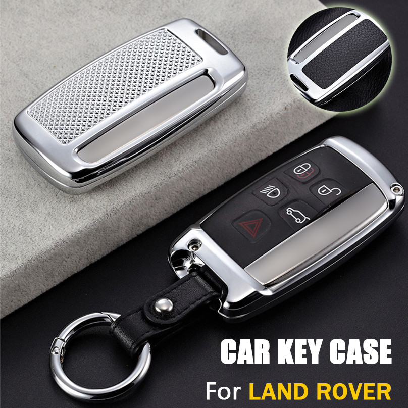 Luxury Zinc Alloy Car Key Cover Case For Land Rover Discovery Freelander 2018 Range Rover Sport Evoque Velar Jaguar XEL XFL