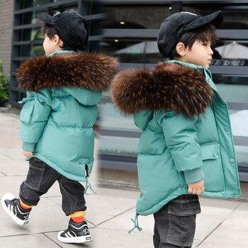 Children's down jacket girls long long 2020 new Korean version baby children's clothing winter thick coat