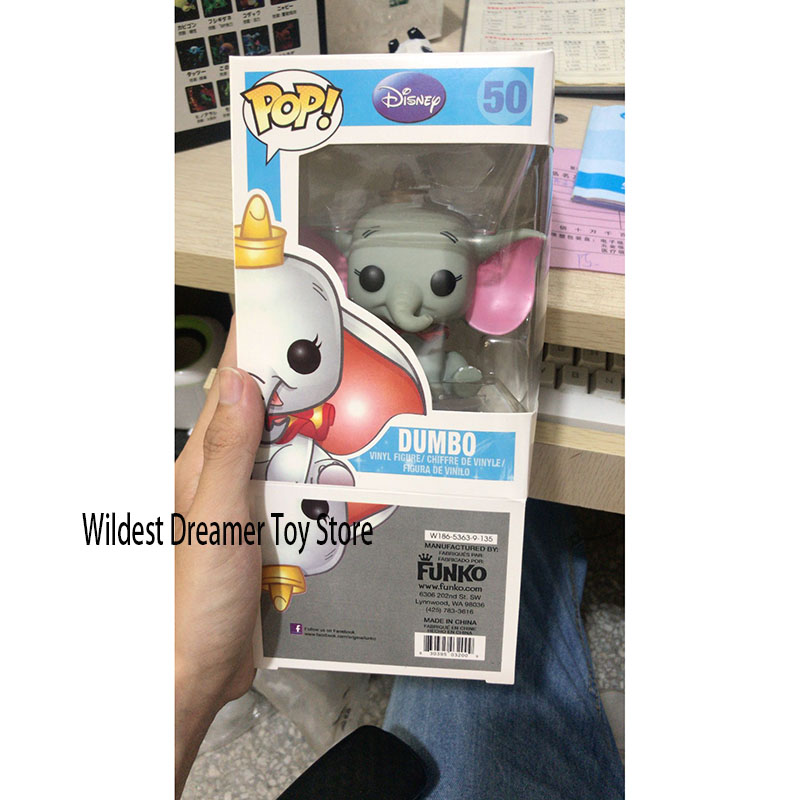 Funko Pop Toys Dumbo Figura Movie Cartoon Anime Figure Vinyl Action Figures Collection Model Vinyl Dolls With Box