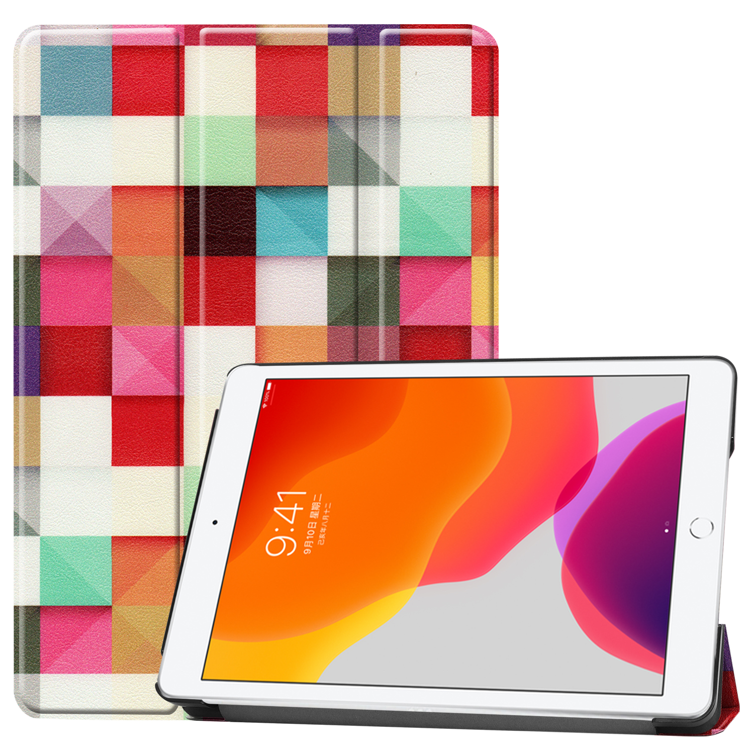 iPad/8th/Cas Smart-Cover for Apple A2428/a2429 Case 8-8th-Generation Magnetic Sleep iPad