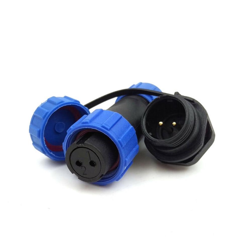 SP13 2Pin Waterproof Connector IP68 Aviation Connector 13A Solder LEDPlug Socket