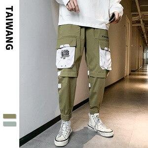 #2220 ropa informal japonesa pantalones Cargo hombres pantalones de Hip Hop lápiz Harem hombres Joggers con bolsillos laterales Jogger Hombre Pantalones de chándal
