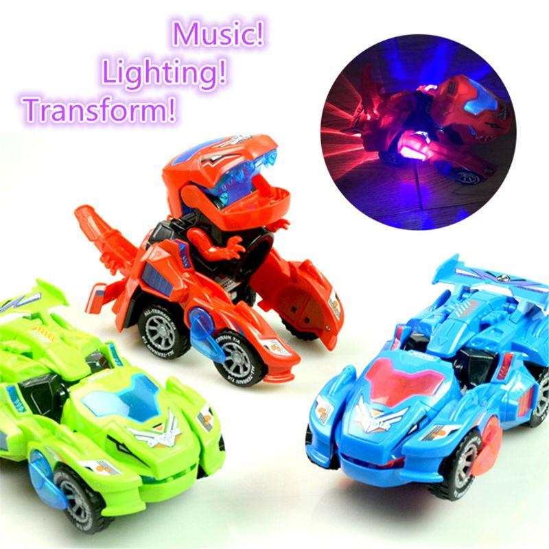 Transforming Dinosaur LED Cars 16
