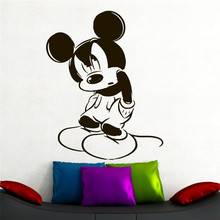 Disney Creative cute Mickey Mouse Funny Custom Kids Name kids wall stickers for rooms home decoration