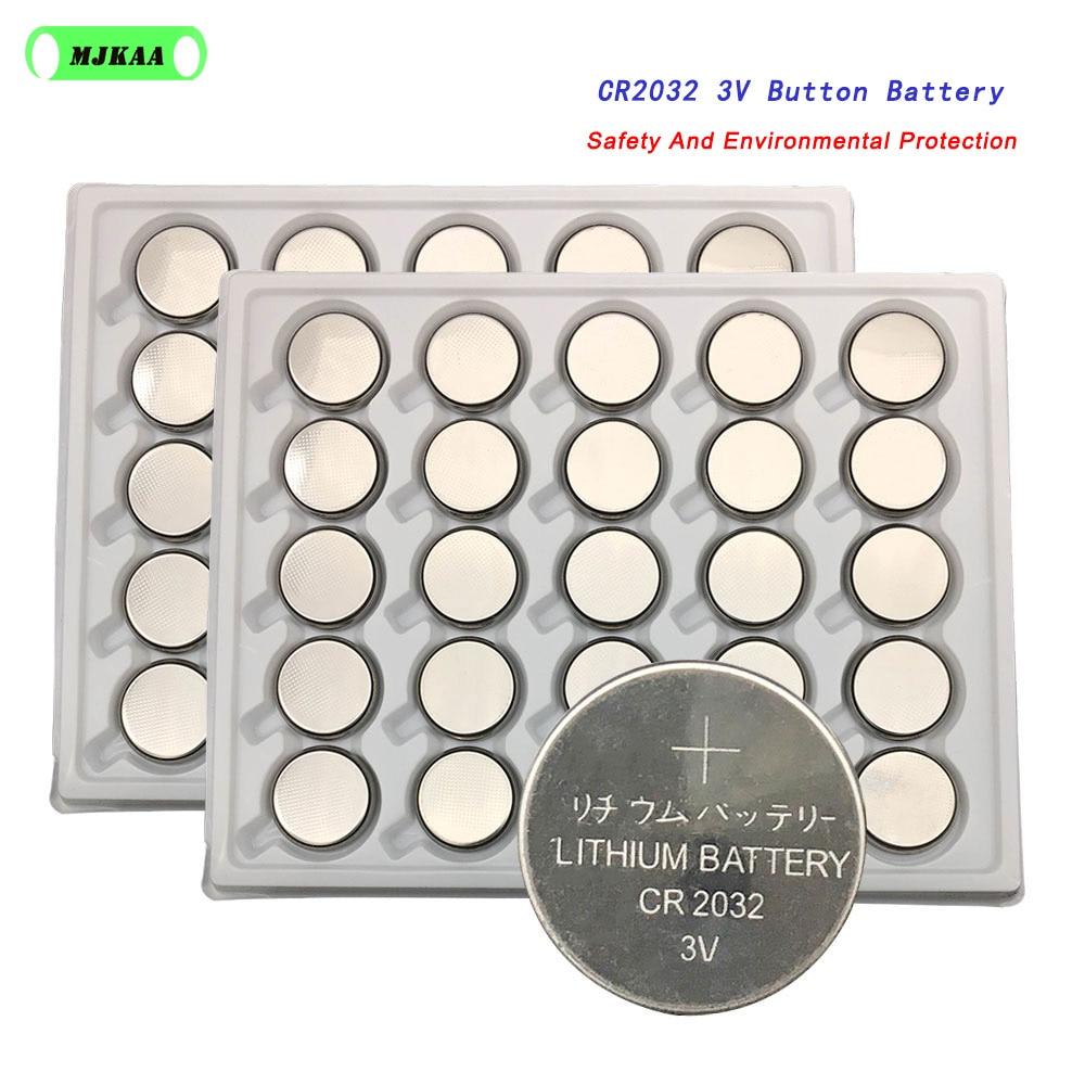 50 pièces Cr2032 Batterie C R2032 DL2032 CR 2032 KCR2032 5004LC ECR2032 Bonne Qualité Pile Bouton cr2032 piles 2032 3v