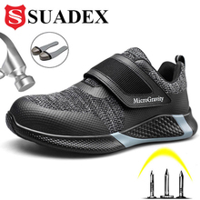 Safety-Shoes Protective Footwear SUADEX Lightweight Work Construction Steel-Toe Men's