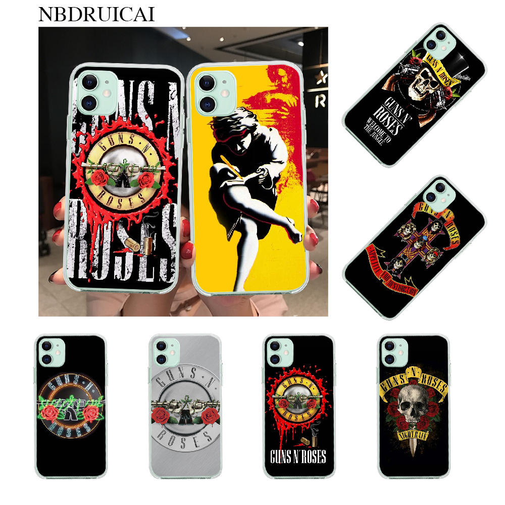 NBDRUICAI Guns n roses good time Coque Shell Phone Case for iPhone 11 pro XS MAX 8 7 6 6S Plus X 5S SE XR cover