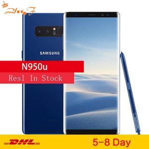 Оригинальный разблокированный сотовый телефон Samsung Galaxy Note8 Note 8 N950U, LTE, Android, Восьмиядерный, 6,3 дюйма, двойная камера 12 МП, 6 ГБ ОЗУ, 64 Гб ПЗУ