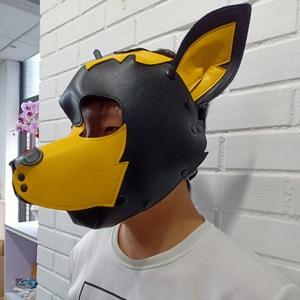 Image 5 - חיקוי עור סקסי צעצוע גור לשחק כלב קוספליי מסכת פטיש סקס לחיות מחמד ברדס תפקיד אביזרים