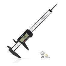 0-150mm eletrônico digital caliper eletrônico com grande tela lcd automático fora caracterizado ferramenta de medição bateria incluída