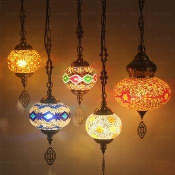 Cross-border Mosaic chandeliers Turkey retro bar bar Mediterranean droplight characteristics of lamps and lanterns