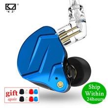 Kz zsn pro x 1dd 1ba motorista híbrido de alta fidelidade no ouvido fone baixo fones metal monitor esporte fone kz zst x zs10 pro zsx