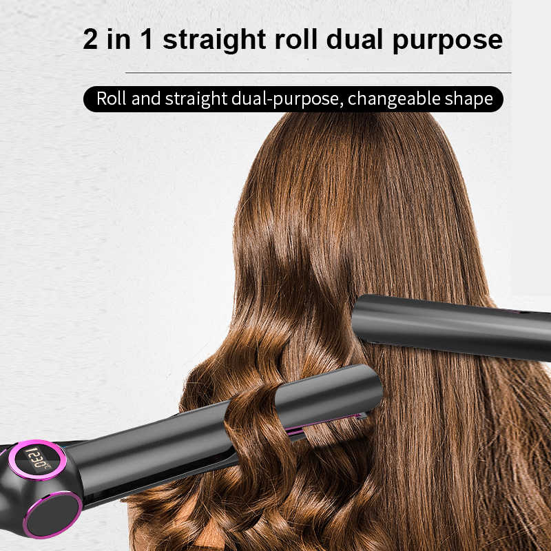 Anion Hair Straightener Gift Hair Curling Wand Styling Short Hair Use 2 In 1 Functional Straightening Irons Aliexpress